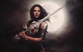 Обои sword, armor, warrior