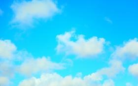 Обои голубое, облака, небо, лето