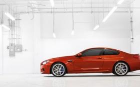 Обои BMW, Машина, Оранжевый, Фон, Лампы, Coupe, Купе