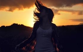 Картинка девушка, волосы, рубашка, Marta Aragonés