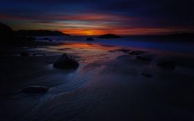 Обои landscape, пейзаж, nature, beautiful, небо, рассвет, sand