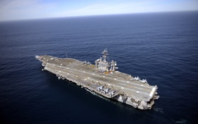Обои USS Carl Vinson, корабль, aircraft carrier, оружие