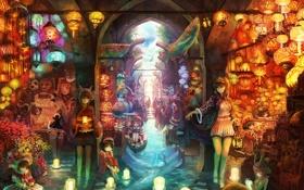 Картинка рыбы, аниме, sakai yoshikuni, fantasia