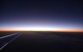 Картинка закат, горы, крыло самолёта, Germany, Германия