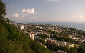Картинка море, город, лазаревское
