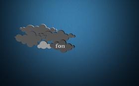 Картинка небо, синий, серый, фон, обои, хмары