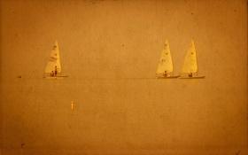Картинка море, пейзаж, стиль, фон, лодки