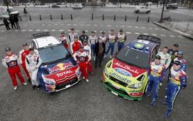 Обои Ford, Форд, Ситроен, Citroen, Focus, WRC, Rally