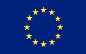 Обои логотип, флаг, эмблема, евросоюз
