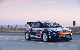 Обои Небо, Вечер, Колеса, Улица, Hyundai, Red Bull, WRC