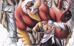 Картинка мужчина, Наруто, Naruto, жест, art, шаринган, призванное существо