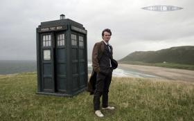 Обои фильм, мужик, будка, Doctor Who