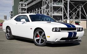Картинка Dodge, Challenger, white, передняя часть, Edition, SRT8 392, Inaugural