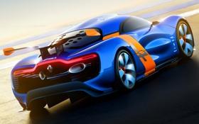 Обои Concept, Синий, Машина, Концепт, Renault, Car, Автомобиль