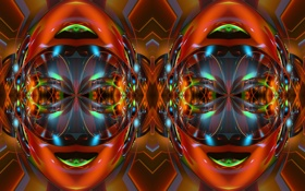 Обои абстракция, лицо, узор, цвет