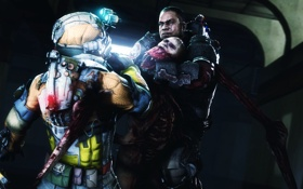 Обои Electronic Arts, Dead Space 3, Isaac Clarke, John Carver, Visceral Games, necromorphs