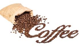 Картинка надпись, кофе, зерна, мешок, beans, coffee