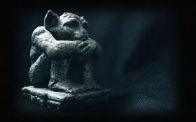 Картинка статуя, сидит, гаргулья, Gargoyle
