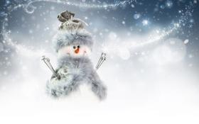 Картинка зима, снег, деревья, пейзаж, горы, природа, дом
