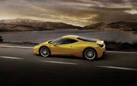 Картинка Дорога, Скорость, Драйв, Ferrari 458 italia