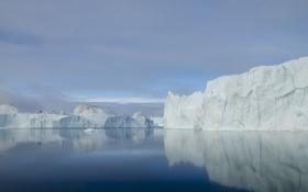 Картинка холод, море, природа, льды, льдины