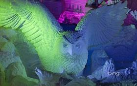 Обои свет, цвет, Япония, Хоккайдо, Саппоро, снежная скульптура, Одори