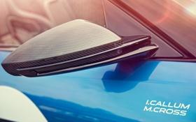 Обои Concept, макро, Jaguar, зеркало, ягуар, карбон, Project 7