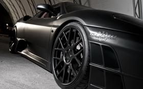 Обои Ferrari, диски, tuning, черные, матовая, performance, pro