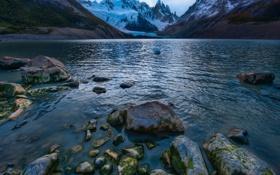 Обои камни, горы, озеро, Аргентина