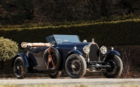 Обои Bugatti, автомобиль, бугатти, старинный, 1929, Open Tourer, 4-seat