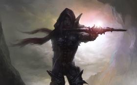 Картинка Diablo 3, фан-арт, охотник на демонов, Demon Hunter, Qiu Jian Yuan