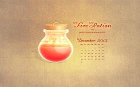 Обои december, дни, декабрь, числа, календарь, огненное зелье для сладких поцелуев и теплых объятий