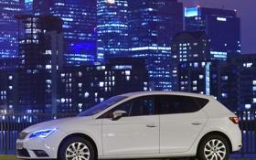 Картинка SEAT, Leon, белый, авто, сеат