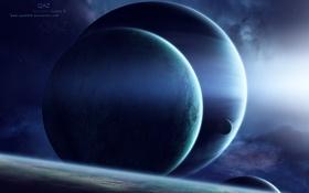 Обои поверхность, планеты, атмосфера