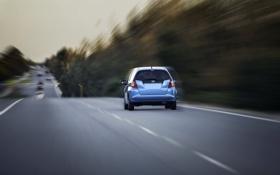 Картинка дорога, машина, движение
