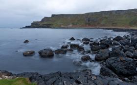 Обои вода, горы, залив, сергей доля, ирландия, тропа великанов