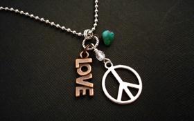 Картинка фон, обои, настроения, камень, love, цепочка, камешек