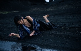 Обои Gilles Bensimon, Vogue China, Ming Xi