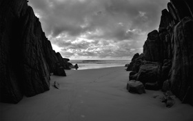 Картинка камни, скалы, фото, океан, вода, море, песок