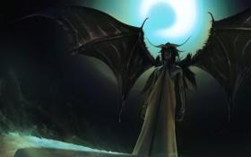 Картинка луна, демон, Bind Murcielago
