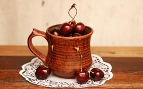 Обои summer joys, berry, cup