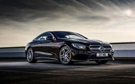 Картинка Mercedes-Benz, мерседес, AMG, Coupe, UK-spec, 2014, S 500