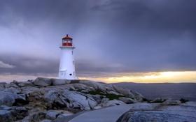 Обои пейзаж, маяк, море
