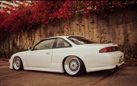 Обои тюнинг, белая, Silvia, Nissan, white, ниссан, сильвия