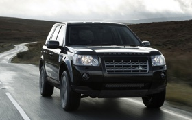 Картинка black, Sport, Land, Rover, UK-spec, Freelander 2