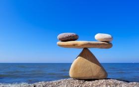 Картинка white, stones, black, balance