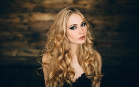 Картинка Beauty, Eyes, Blonde, View, Lips, Hair, Portait
