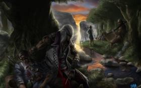 Обои жертва, assassins creed, ассасин, концепт-арт