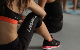 Обои women, fitness, class, reebok les mills