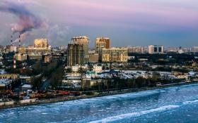 Картинка Москва, река, зима.мороз, CITY